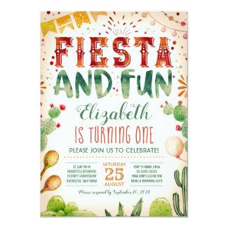 Fiesta and Fun | Summer Birthday Party Invitation