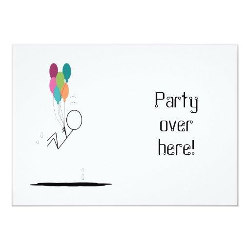 """¡Fiesta aquí! invitaciones Invitación 5"""" X 7"""""""