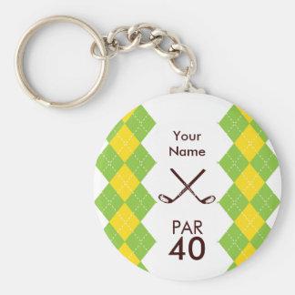 Fiesta Argyle del golf de las señoras de muy buen  Llaveros Personalizados