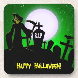 Fiesta asustadizo de Halloween del parca Posavasos De Bebida