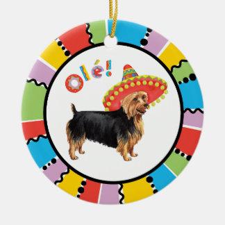 Fiesta Australian Terrier Ceramic Ornament