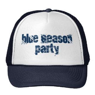 Fiesta azul de la estación del día de fiesta gorra