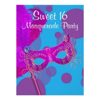 Fiesta azul de la mascarada del dulce 16 del trull comunicados