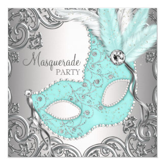Fiesta azul de la mascarada del trullo de plata comunicado personal