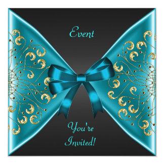 Fiesta azul del acontecimiento del negro del arco comunicados personales