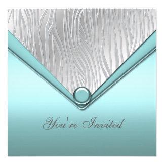 Fiesta azul del trullo de plata comunicado