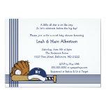 Fiesta azul y blanca de la fiesta de bienvenida al invitación personalizada