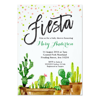 Fiesta Baby Shower Invitation