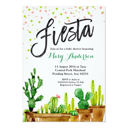 fiesta baby shower invitation zazzle