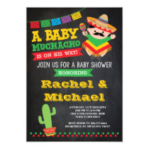 Fiesta Baby Shower Invitation, Baby Muchacho Card