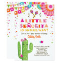 Fiesta Baby shower invitation Floral Senorita Girl