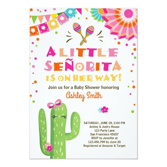 Fiesta Baby Shower Invitation Fl Senorita