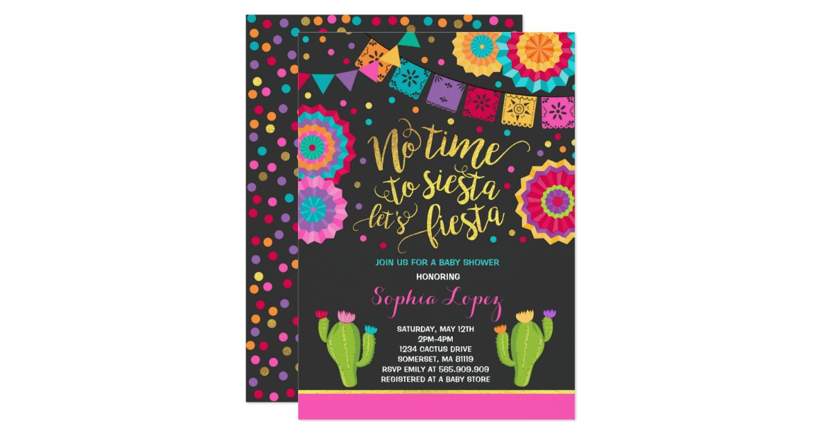 Fiesta Baby Shower Invitation Mexican Baby Shower | Zazzle.com