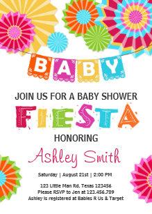 Fiesta Baby Shower Invitation Mexican