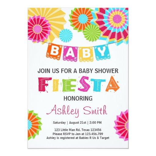 fiesta baby shower invitation mexican baby shower zazzle