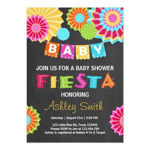 Fiesta baby shower invitation mexican baby shower zazzle - Fiesta baby shower ...