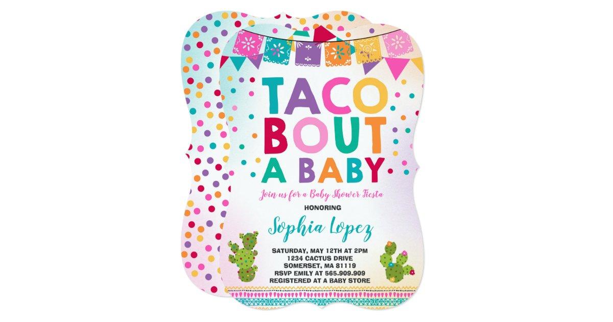 Fiesta Baby Shower Invitation Taco Bout A Baby | Zazzle.com
