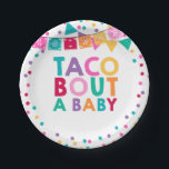 "Fiesta Baby Shower Paper Plate 7&quot; Taco Bout A Baby<br><div class=""desc"">Fiesta Baby Shower Party 7&quot; Paper Plate. 