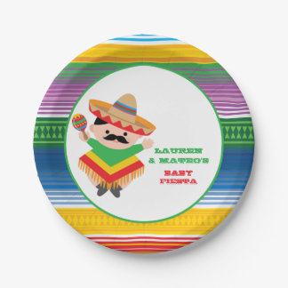 fiesta baby shower plates mexican party paper plate - Fiesta Plates