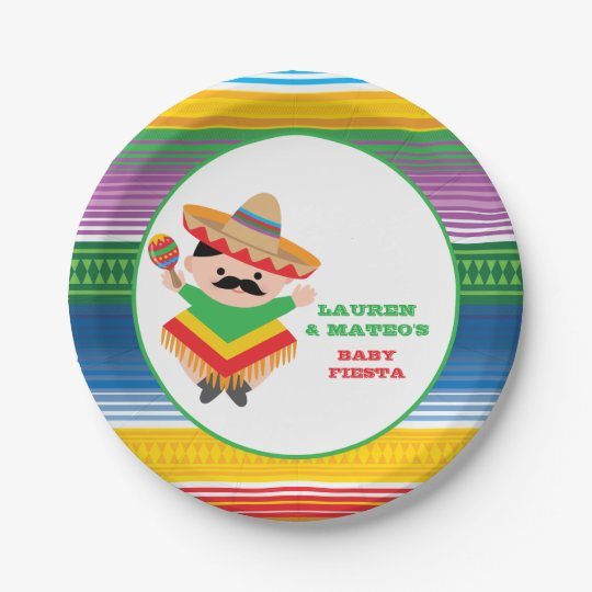 Fiesta Baby Shower Plates Mexican Party Paper Plate  sc 1 st  Zazzle & Fiesta Baby Shower Plates Mexican Party Paper Plate | Zazzle.com