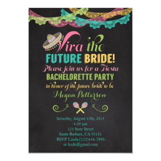 Fiesta Bachelorette Party Invitation