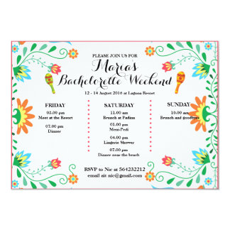 Bachelor party invitations announcements zazzle fiesta bachelorette party itinerary invitation card stopboris Gallery