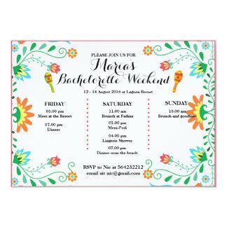 Fiesta Bachelorette Party Itinerary Invitation, Invitation