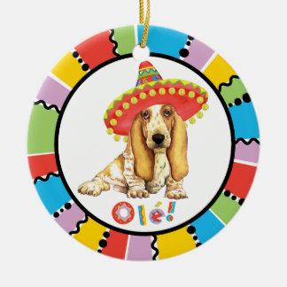 Fiesta Basset Ceramic Ornament