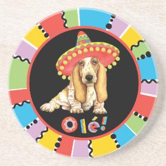Fiesta Basset Drink Coaster
