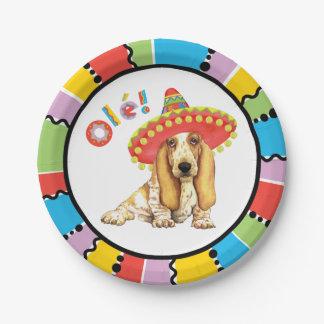 Fiesta Basset Paper Plate