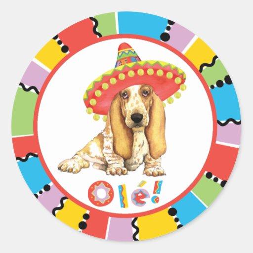Fiesta Basset Round Sticker