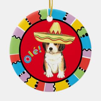 Fiesta Beagle Ceramic Ornament