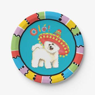 Fiesta Bichon Paper Plate