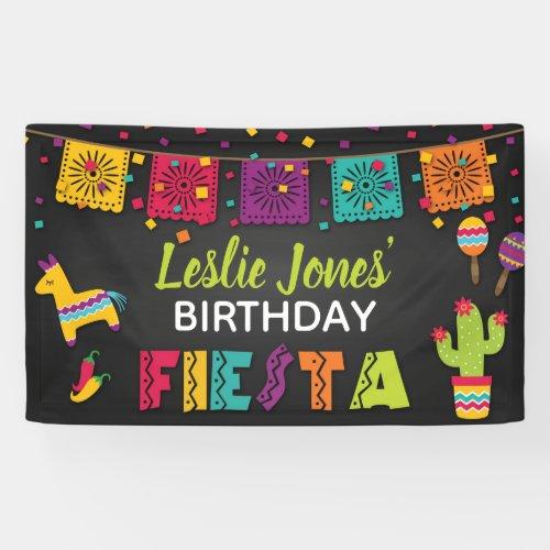 Fiesta Birthday Banner