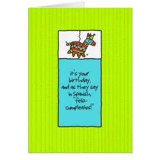 Fiesta Birthday Card