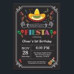 "Fiesta Birthday Invitation Chalkboard Mexican<br><div class=""desc"">Fiesta Birthday Invitation. Mexican theme Birthday Party Invitation. Cinco de Mayo. First 1st Birthday,  Any Ages. Colorful Mexican Festive Party Elements. For further customization,  please click the &quot;Customize it&quot; button and use our design tool to modify this template.</div>"