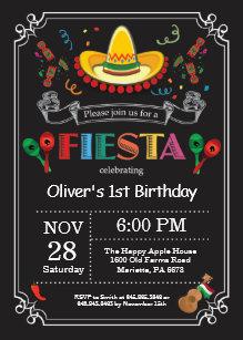 5f351d1d4615 Fiesta Birthday Invitation Chalkboard Mexican