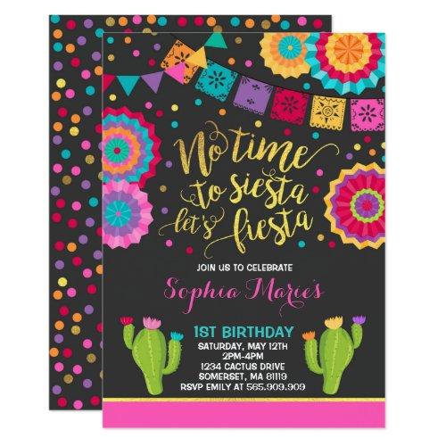 Fiesta Birthday Invitation Mexican Birthday Fiesta