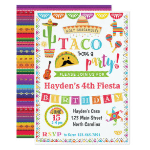 Mexican Fiesta Party Invitations Zazzle
