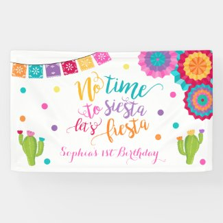 Fiesta Birthday Party Banner No Time To Siesta