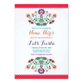 Fiesta Birthday Party Mexican Invitation