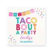 Fiesta Birthday Party Napkin Taco Bout A Party