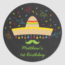 Fiesta Birthday Stickers
