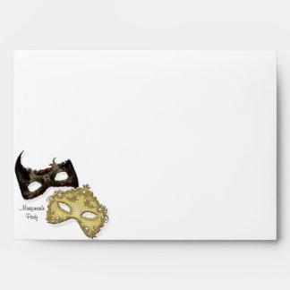 Fiesta blanco de la mascarada de las máscaras del  sobre