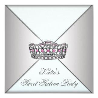 Fiesta blanco del dulce dieciséis de la tiara comunicado