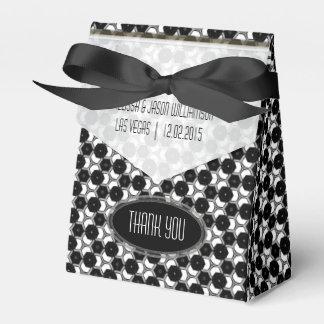 Fiesta blanco del hexágono BW01 del negro Cajas Para Regalos