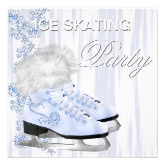 Fiesta blanco del patinaje de hielo de los patines comunicados personales