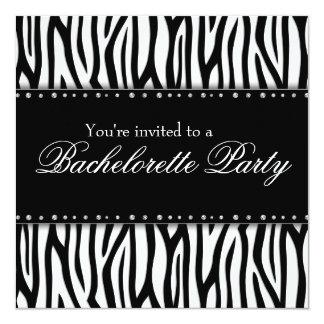 """Fiesta blanco y negro de Bachelorette de los Invitación 5.25"""" X 5.25"""""""
