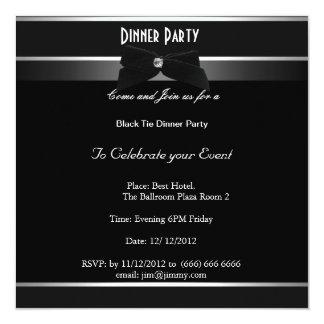 """Fiesta blanco y negro formal cualquier invitación 5.25"""" x 5.25"""""""
