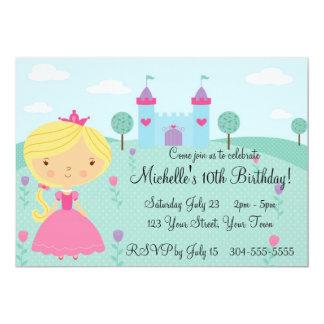 """Fiesta bonita de la princesa cumpleaños invitación 5"""" x 7"""""""